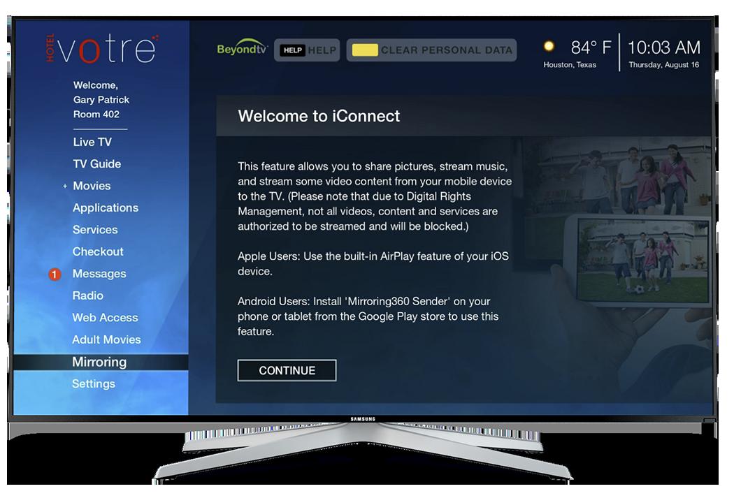 BeyondTV | Hotel guest room TV system | Hotel Internet Services